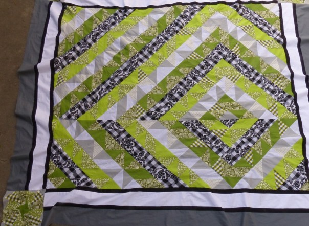 Finished pieced chuppah