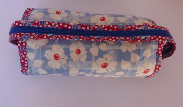 sew together bag, top view