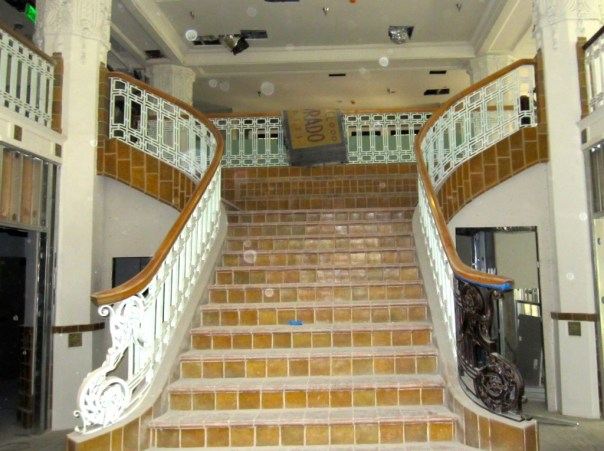 Staircase in the Stowell Hotel Lobby