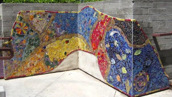 mosaic behind Vromans