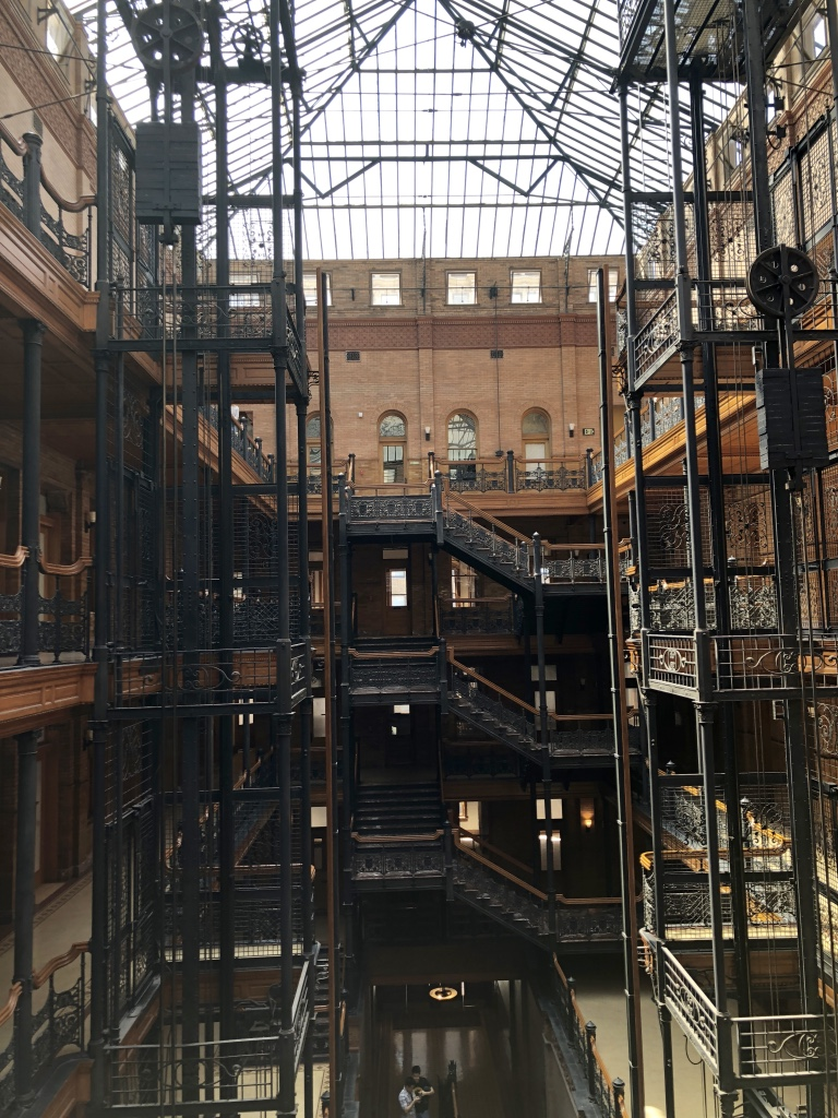 View from midlevel, The Bradbury Building