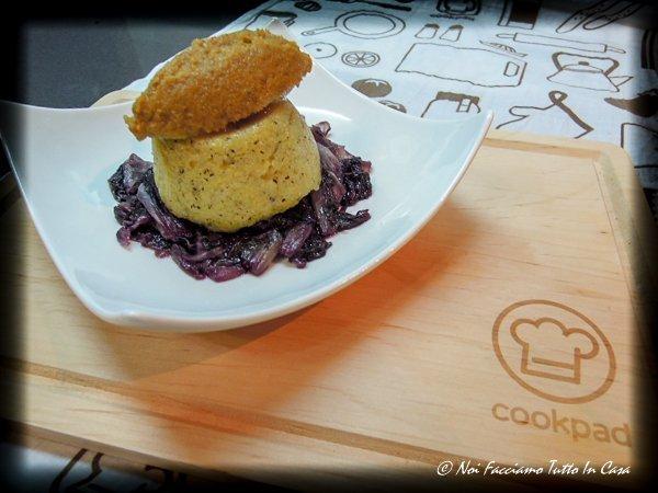 Tortino di polenta con mousse di missoltino su letto di radicchio stufato-ar1-2