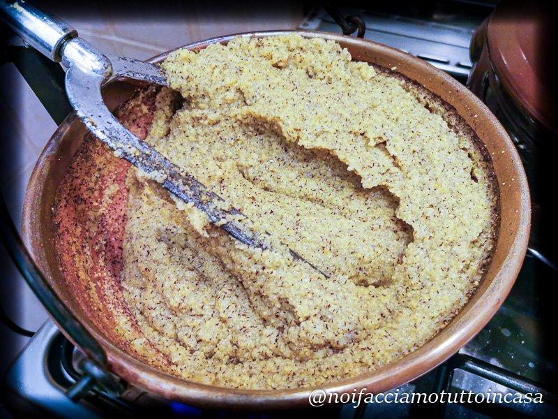 Cinghiale-in-agrodolce-con-polenta