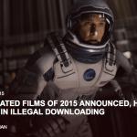 2015年最も違法ダウンロードされた映画トップ10