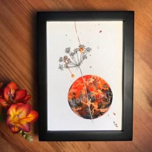 Aquarelle Héphaïstos planète plante mlam noiram marion-lorraine poncet