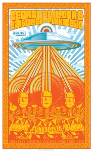 George Clinton & Parliament - Funkadelic poster by Jim Ford