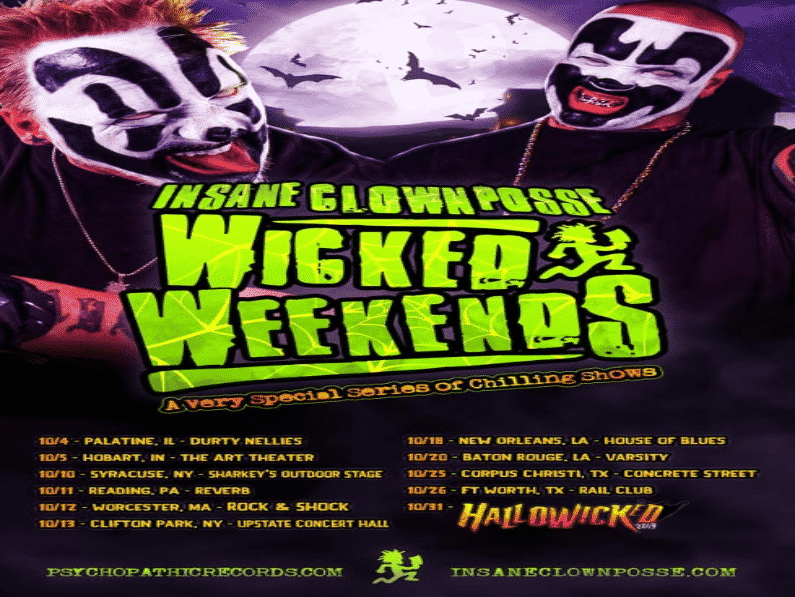 This Just In: ICP Wicked Weekends Tour Falling Into October