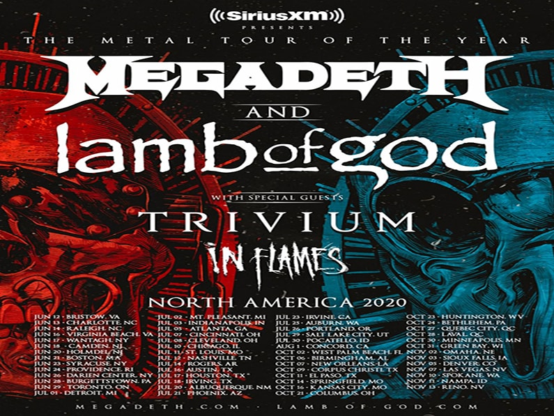 MEGADETH AND LAMB OF GOD ANNOUNCE MASSIVE 2020 TOUR