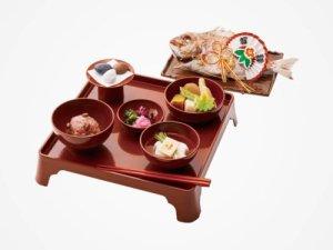八百彦のお食い初め膳の画像