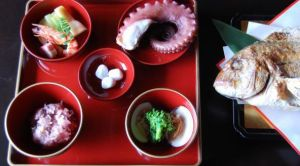 魚初のお食い初め膳の画像