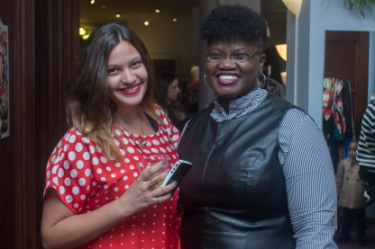 Mecca Nurri and Georgette Niles of Styled OutLoud and Grown and Curvy, respectively. @The Wardrobe Boutique
