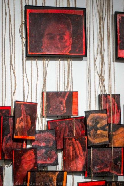 Yadira's hanging paintings