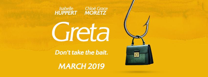 La Viuda (Greta) y el personaje de Isabelle Huppert