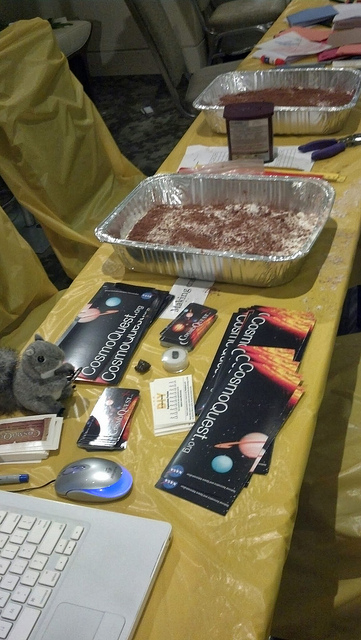 CosmoQuest and craters at the DIY Science Zone at GeekGirlCon.