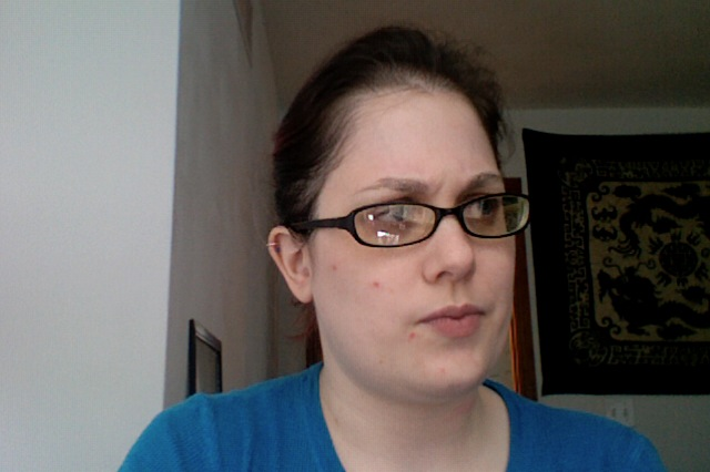 9 February 2014 - This is my blogging face.