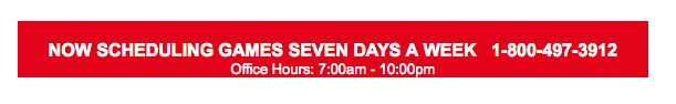 scheduling games seven days a week