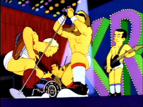 Red Hot Chili Peppers. Fuente: simpsons.wikia.com