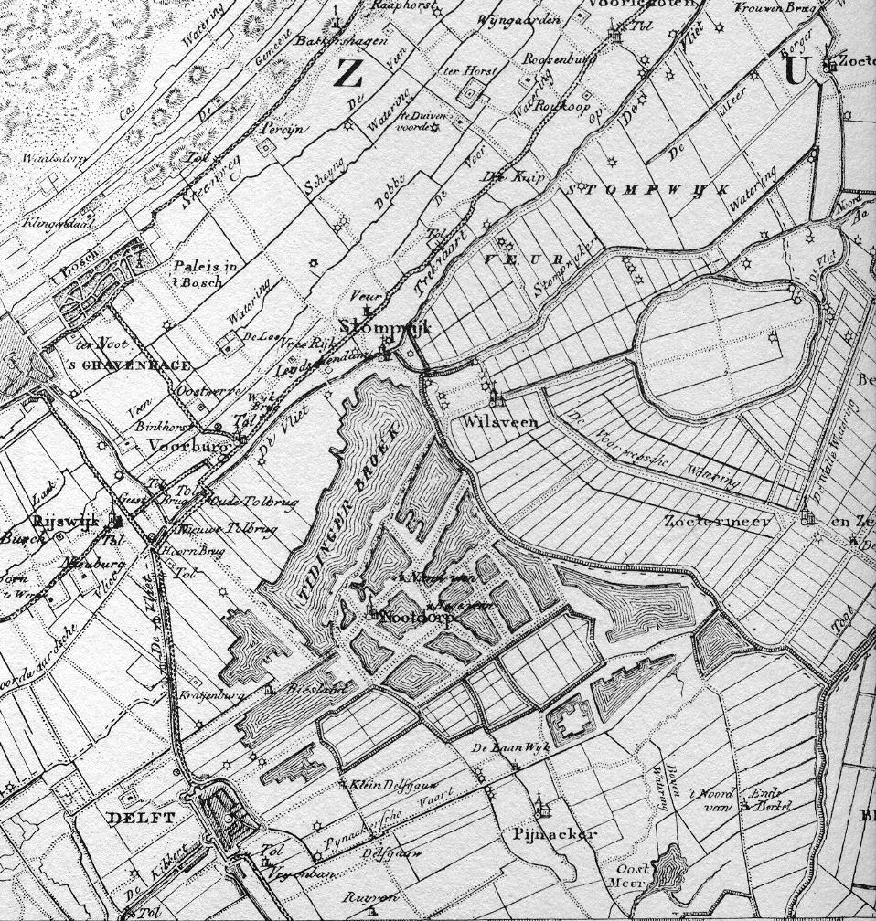 1829 - detail uit de kaart van Krayenhoff