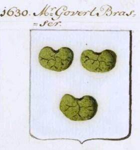 Wapen Mr. Govert Dircksz. Brasser 1589-1654