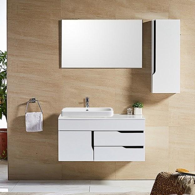 tủ lavabo nhựa picomat chống nước màu trắng