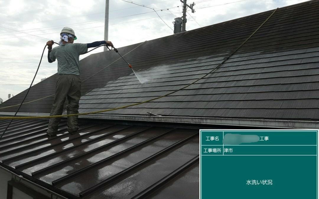 T様店舗、屋根塗装工事。