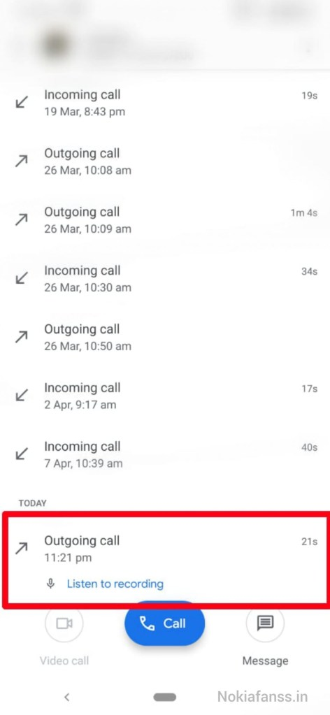 Screenshot : Steps to enable call recording feature in Nokia phones