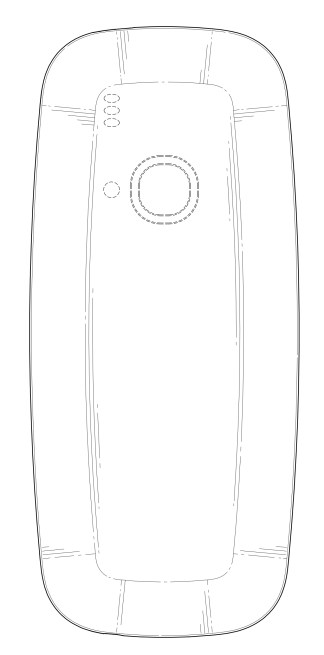 Nokia 3310 design patent back