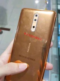 Nokia 8 gold copper 6