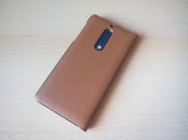 Nokia 5 mozo case brown leather back