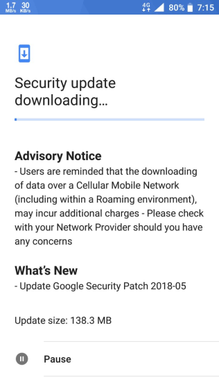 Nokia 6 May update