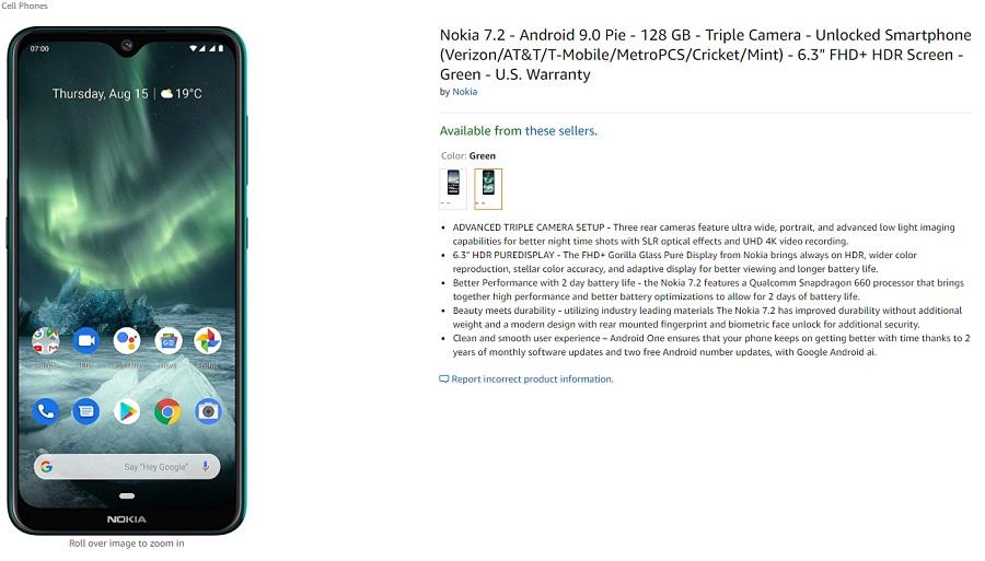 Amazon Die USA haben Vorbestellungen für Nokia 7.2 eröffnet 2