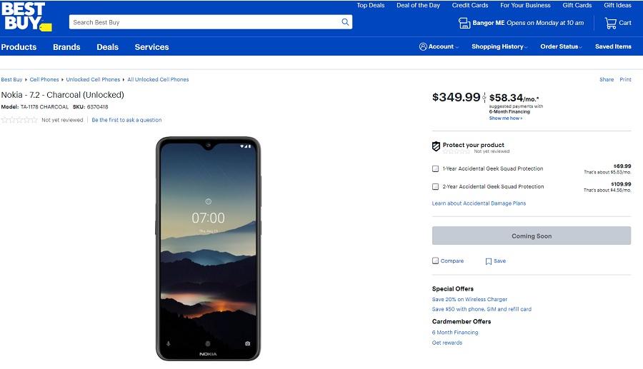 Best Buy ayrıca Nokia 7.2'yi ABD pazarına getiriyor 2