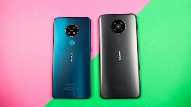 Nokia 5.3 charcoal vs Nokia 7.2 cyan