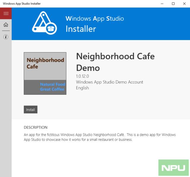 windows app studio installer