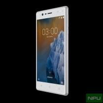 Nokia 3 Silver White front