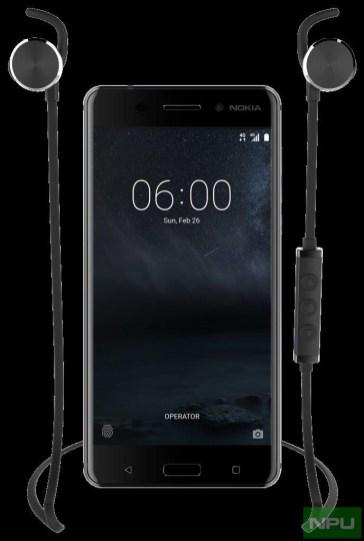 Nokia 6 with Nokia Wireless Headset BH 501