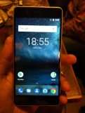 Nokia 5 Silver front