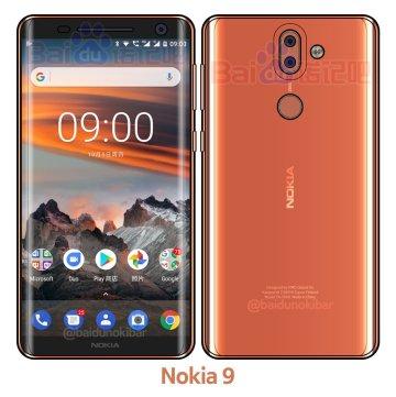 Nokia 9 Front & Back sketch