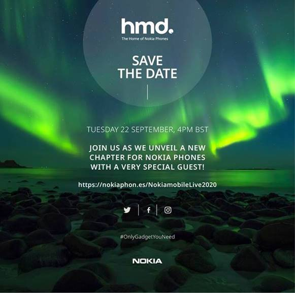 HMD Global sends out invites for virtual event on September 22