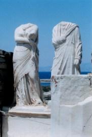 Statues on Delos