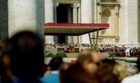 Pope John Paul II leads Palm Sunday Mass at the Vatican (2004).