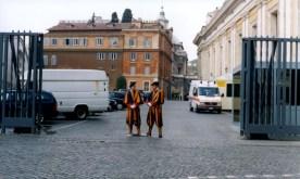 Members of the Swiss Guard in Vatican City.