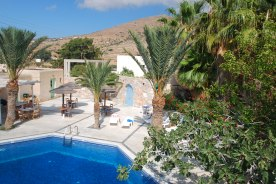 The pool at the Homer Hotel, Ios, Greece