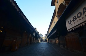 Early morning on the Ponte Vecchio