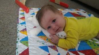 Cuddling hi bunny