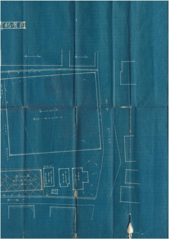 千代田リボン製織所配置図右(昭和2年)