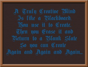 Creative Mind Like a Blackboard