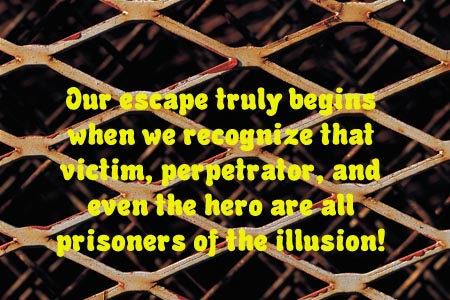 victim, perpetrator, hero in prison