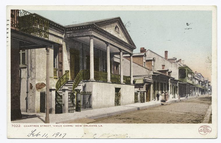 Beauregard-Keyes House. Detroit Publishing postcard, 1903.