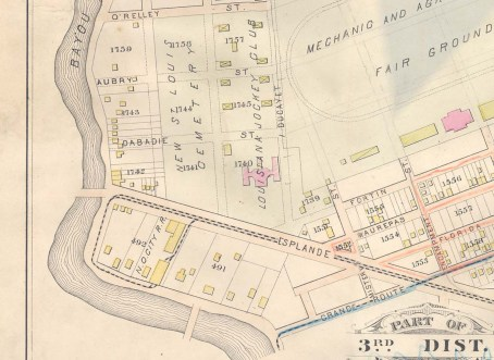 Detail from Plate 22 of the Robinson Atlas, New Orleans, 1881